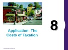 Lecture Principles of economics - Chapter 8: Application: The costs of taxation