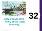 Lecture Principles of economics - Chapter 32: A macroeconomic theory of the open economy