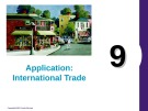 Lecture Principles of economics - Chapter 9: Application: International trade