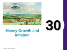 Lecture Principles of economics - Chapter 30: Money growth and inflation