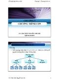 Bài giảng Kỹ thuật lập trình cơ bản (C++): Chương 3 - ThS. Trần Nguyễn Anh Chi