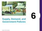 Lecture Principles of economics - Chapter 6: Supply, demand, and government policies