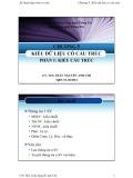 Bài giảng Kỹ thuật lập trình cơ bản (C++): Chương 5 - ThS. Trần Nguyễn Anh Chi