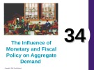 Lecture Principles of economics - Chapter 34: The influence of monetary and fiscal policy on aggregate demand