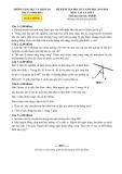 Đề kiểm tra học kỳ 1 có đáp án môn: Vật lý 7 (Năm học 2015-2016)