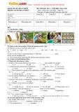 Bộ đề thi học kỳ 1 môn: Tiếng Anh lớp 7 thí điểm