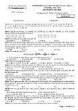 Đề thi thử THPT Quốc gia năm 2016 môn Hóa lần 2 - THPT Yên Lạc (Mã đề 352)