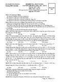Đề thi thử THPT Quốc gia năm 2016 môn Vật lí lần 1 - THPT Ba Đình (Mã đề 111)