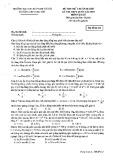 Đề thi thử chuẩn bị cho kỳ thi THPT quốc gia năm 2015 có đáp án môn: Vật lý - Trường THPT chuyên Sư Phạm, Hà Nội (Mã đề thi 111)