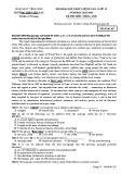 Đề thi thử THPT Quốc gia năm 2016 môn Tiếng Anh lần 1 - THPT Yên Lạc (Mã đề 207)