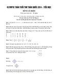 Bộ đề thi Olympic toán tuổi thơ toàn quốc năm 2014 cấp tiểu học