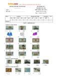 Đề thi học kỳ 1 có đáp án môn: Tiếng Anh 4 - Trường Tiểu học Nguyễn Huệ (Năm học 2015-2016)