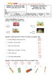 Đề kiểm tra cuối học kỳ 1 có đáp án môn: Tiếng Anh 3 - Trường Tiểu học Quảng Tiên (Năm học 2015-2016)