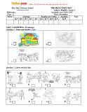 Đề thi học kỳ 1 có đáp án môn: Tiếng Anh 3 - Trường Tiểu học Hòa Phú (Năm học 2014-2015)