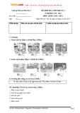 Đề kiểm tra cuối học kỳ 1 có đáp án môn: Tiếng Anh 3 - Trường Tiểu học Phú Cần A (Năm học 2015-2016)