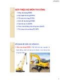 Bài giảng Kỹ thuật thi công: Phần mở đầu - Lương Hòa Hiệp