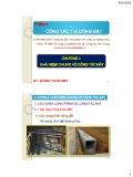 Bài giảng Kỹ thuật thi công (Phần A: Công tác thi công đất): Chương 1 - Lương Hoàng Hiệp