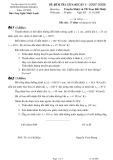Đề thi kiểm tra giữa kì I môn Truyền nhiệt và thiết bị trao đổi nhiệt (năm 2007-2008): Trường ĐH Bách Khoa
