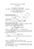 Đề thi kết thúc học phần Vật lý thống kê (HK I, năm 2013-2014)