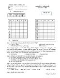 Đề thi môn Nguyên lý thống kê: Mã đề thi 153