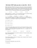 Đề thi thử THPT quốc gia năm 2016 có đáp án môn: Vật lý - Đề số 1