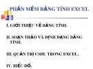 Bài giảng Phần mềm bảng tính Excel