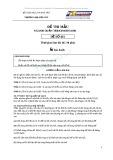 Đề thi mẫu ngành Quản trị kinh doanh: Đề số 001