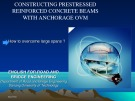 Lecture: Constructing prestressed reinforced concrete beams with anchorage OVM