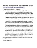Đề cương và đáp án tham khảo môn Tư tưởng Hồ Chí Minh