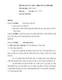 Đề thi và Đáp án môn Nhập môn Xã hội học