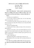 Đề thi và Đáp án môn Tư tưởng Hồ Chí Minh - ĐH SPKT TP.HCM