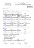 Đề thi và đáp án trung học phổ thông quốc gia năm 2015 môn: Hóa học - Mã đề thi 357