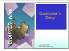 Lecture Marketing research - Chapter 9: Questionnaire design