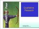 Lecture Marketing research - Chapter 4: Qualitative research