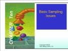 Lecture Marketing research - Chapter 10: Basic sampling issues