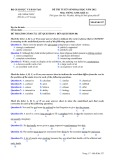 Đề thi tuyển sinh đại học môn Tiếng Anh (năm 2012): Mã đề thi 537