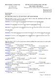Đề thi tuyển sinh đại học môn Tiếng Anh (năm 2012): Mã đề thi 426
