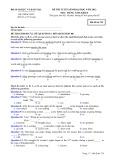 Đề thi tuyển sinh đại học môn Tiếng Anh (năm 2012): Mã đề thi 729