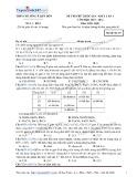 Đề thi thử THPT Quốc Gia môn Hóa học lần 1 (năm học 2015-2016): Mã đề thi 357