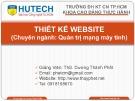 Bài giảng Thiết kế Website: Chương 0 - ThS. Dương Thành Phết