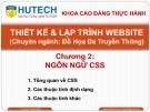 Bài giảng Thiết kế và lập trình Website: Chương 2 - ThS. Dương Thành Phết
