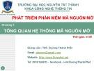 Bài giảng Phát triển phần mềm mã nguồn mở: Chương 1 - ThS. Dương Thành Phết