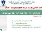Bài giảng Phát triển phần mềm mã nguồn mở: Chương 3 - ThS. Dương Thành Phết