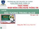 Bài giảng Nhập môn Công nghệ thông tin: Lab 2 - Th.S Dương Thành Phết