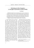 Ảnh hưởng của Tôn Trung Sơn và chủ nghĩa Tam dân đối với Hồ Chí Minh