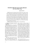 Tinh thần nhập thế trong tư tưởng phật giáo của Trần Nhân Tông