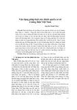 Vận dụng pháp luật của chính quyền cơ sở ở nông thôn Việt Nam