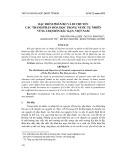 Đặc điểm phân bố và di chuyển các thành phần hóa học trong nước tự nhiên vùng Chợ Đồn Bắc Kạn, Việt Nam