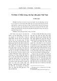 Tri thức về biển trong văn học dân gian Việt Nam