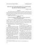 Ngôn ngữ giao tiếp trong hôn lễ của người Nam Bộ qua một số nghi lễ, nghi thức
